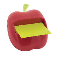 3M POST-IT NOTE NOVELTY DISPENSER APPLE RED - Ideal Teacher Gift!