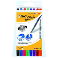 BIC Velleda 1721 Whiteboard Marker Assorted Pk8 1199005728