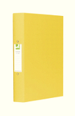 Q-Connect 2-Ring Binder A4 25mm Polypropylene Yellow
