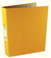 Q-Connect 2-Ring Binder A4 25mm Paper-Backed Yellow KF01473