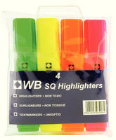 HiGlo Highlighter Assorted Pk 4 WX01116