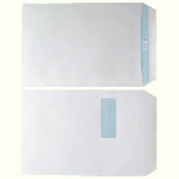 Envelope C4 Window 90gsm White Self-Seal Pk 250 WX3501