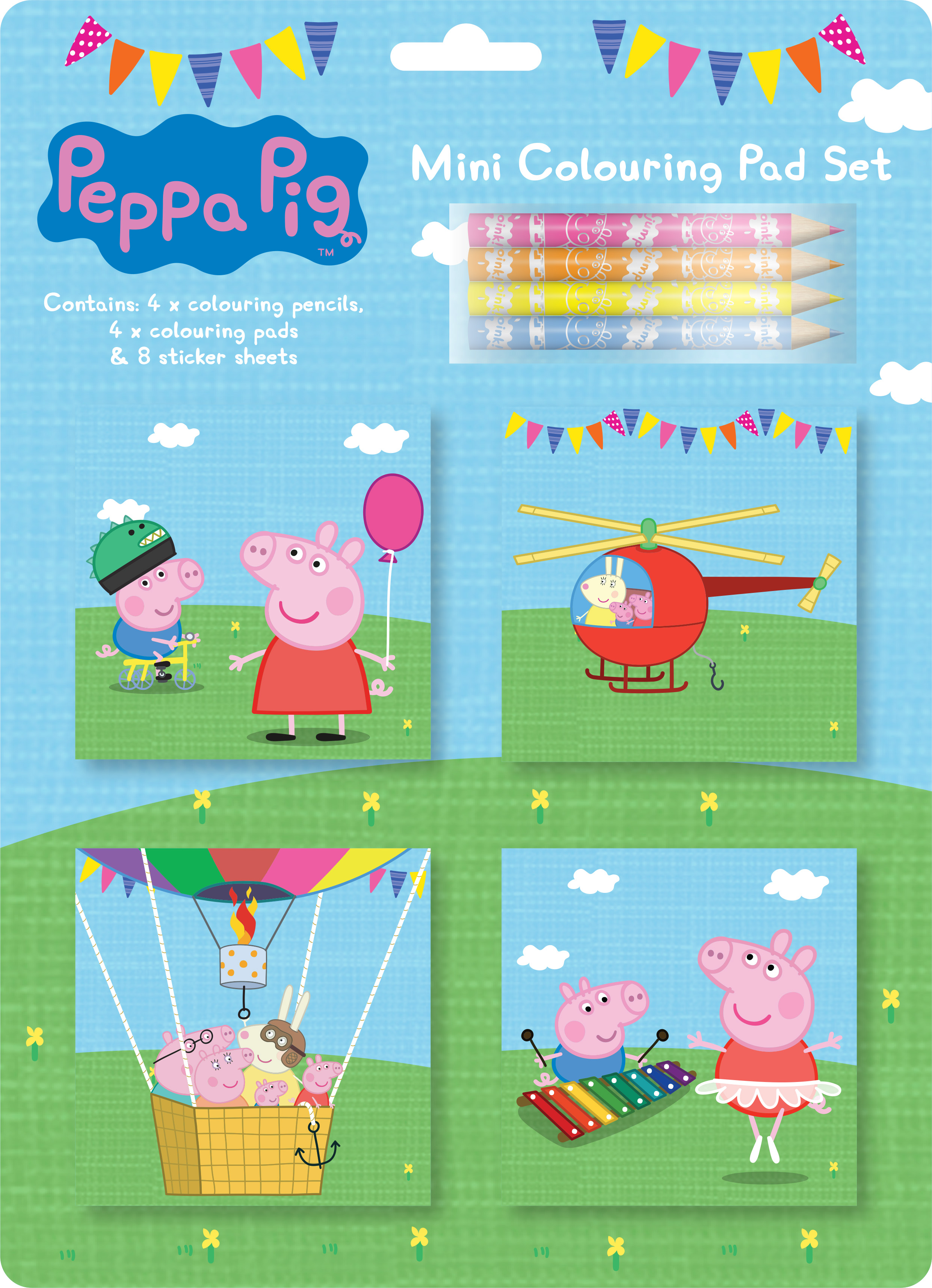 Pe peppa pig online coloring pages - Peppa Pig Mini Colouring Pad Set