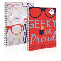The Geek Range - A4 Twin Wiro NoteBook (Choose from Nerdy or Geeky)