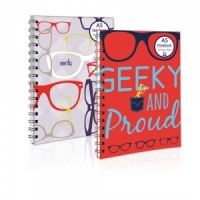 The Geek Range - A5 Twin Wiro Nerdy NoteBook (Choose from Nerdy or Geeky)