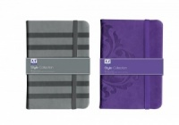 Style Collection A5 Notebook  (Choose from either Purple Tribal or Grey Stripe)