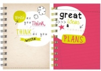 Slogan A6 Twinwire Notebook (Choose from 2 designs)