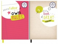 Slogan A4 Casebound Notebook (Choose from 2 Designs)