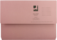 Document Wallet 220gsm Foolscap Pink (Pk 50) WX23015A