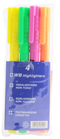 Highlighter Assorted Wallet of 4 WX93206