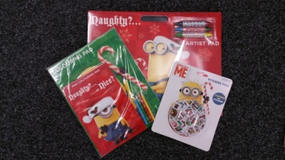 Despicable Me Minions Xmas Artist Pad, Play Pack & Sticker Pod Set