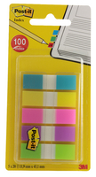 3M Post-it Small Indexes 12mm Portable Assorted (5 Pads of 20) 683-5CBINDEX