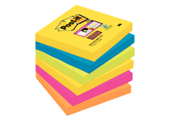 Post-it Super Sticky Notes 76x76mm Rio Assorted Pack of 6 654-6SS-RIO-EU