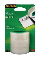 Scotch Magic Tape 19mm x 25m Pk3 Refill Rolls 8-1925R3
