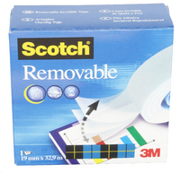 3M Scotch 811 Magic Tape 19mm x33m Removable 8111933