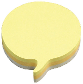 Post-it Yellow Speech Bubble Note Cube Pack of 12 3M37917