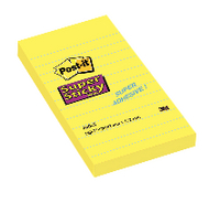 Post-it Yellow Ruled Super Sticky Note 152x102mm Pack of 6 660S