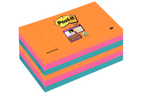 Post-it Super Sticky Colour Notes Electric Glow 76x127mm 655-6SS-EG