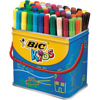 Bic Visa Colouring Pens Drum Pk 84