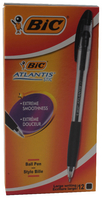 Bic Atlantis Stic Ball Point Pen 1.2mm Black 837386
