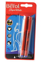 Berol Handwriting Pen Card of 2 Blue HPMTWB02 S0672920