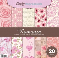 Crafty Impressions 12X12 Romanza Pad 10 Patterned/10 Plain Sheets