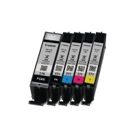 Canon PGI-570/CLI-571 Pigment Black/Cyan/Magenta/Yellow/Black Inkjet Cartridges Multi Pack 0372C004 CO63166