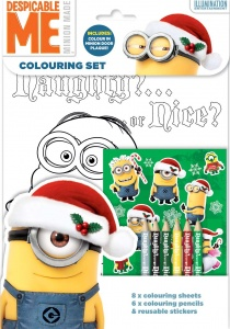 Despicable Me Minions Christmas Xmas Colouring Set