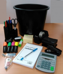 Stationery Economy Essentials 'Bin' Hamper / Bundle - Black