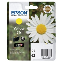 Epson Daisy 18 Series T1804 Yellow Ink Cartridge (Yield 180 Pages) RS Blister for Expression Home XP-102 Inkjet Printer EP18044
