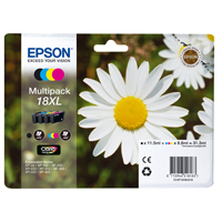 Epson Daisy 18XL Series T1816 Multi Pack 4 Colour Ink Cartridges (Black/Cyan/Magenta/Yellow) for Expression Home XP-102 Inkjet Printer EP18164
