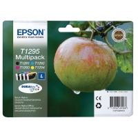 Epson T1295 Inkjet Cartridge Multipack - CMYK. Suitable for use in B42WD, BX305F/FW, BX320FW, BX525WD, BX625FWD, BX925FWD, SX420W, SX425W, SX525WD and SX620FW printers. (Apple) EP62476