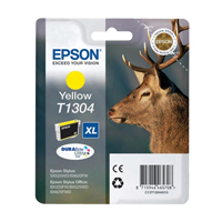 Epson T1304 Inkjet Cartridge Extra High Yield 25.4ml Yellow. For use in Epson Stylus Office BX525WD, BX625FWD, Stylus SX525WD, SX620FW printers. (Stag) EP46570