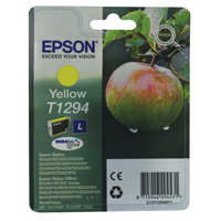 Epson T1294 SX420W/SX425W/525WD Yellow Ink Cartridge (Apple) EP64655