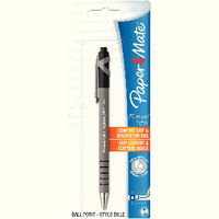 Papermate Flexgrip Retractable Ball Point Pen Black Blister Card S0300515
