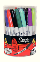 Sharpie Permanent Marker Fine Tub Of 36 Assorted S0811090