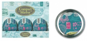 Stamp Design Compact Mirror