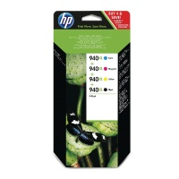 HP 940XL Combo Pack Ink Cartridges Black/Cyan/Magenta/Yellow (Yield Black: 2200 Pages/Yield Colour: 1400 Pages) for OfficeJet Printers HPC2N93AE