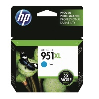 HP 951XL High Yield Cyan Original Ink Cartridge HPCN046AE