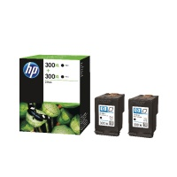 HP 300XL Black Ink Cartridge Twin Pack HPD8J43AE