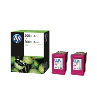 HP 300XL Tri-Colour Ink Crtg Twin Pack HPD8J44AE