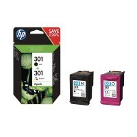 HP 301 Ink Cartridge Pk 2 N9J72AE HPN9J72AE