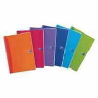 Oxford Office A5 Wirebound Notebook 180 Pages Feint/Margin Translucent Assorted Pk 5 100104780