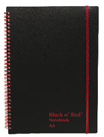 Black n Red Wiro Notebook A4 Polypropylene Feint
