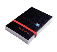 Black n' Red Policeman's Elasticated Notebook Polypropylene Cover 192 Pages Feint 100080540