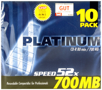 Q-Connect CD-R 700MB/80minutes in Slim Jewel Case Pk 10 KF00419