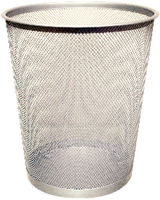 Q-Connect Waste Basket Mesh Silver KF00849