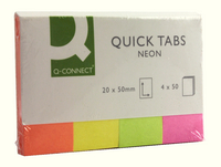 Q-Connect Quick Tabs 20x50mm Neon (Pack of 200) KF01226