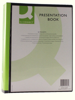 Q-Connect Presentation Book 60-Pocket Black