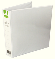 Q-Connect Presentation 4D-Ring Binder 40mm A4 White (Pk 6) KF01329Q